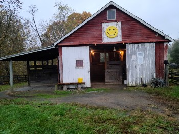Front of the barn.